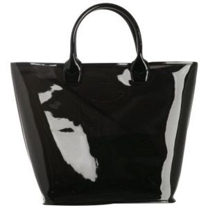 Via Spiga PVC Fumoso Large Tote with zip pouch